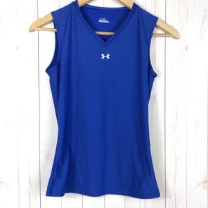 Under Armour Blue Workout Tank Top Size M